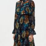 Платье  из смесового шелка