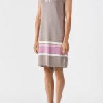 Платье из вискозы прямого покроя