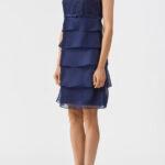 Нарядное платье с воланами