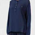 Пуловер с эффектом блузы